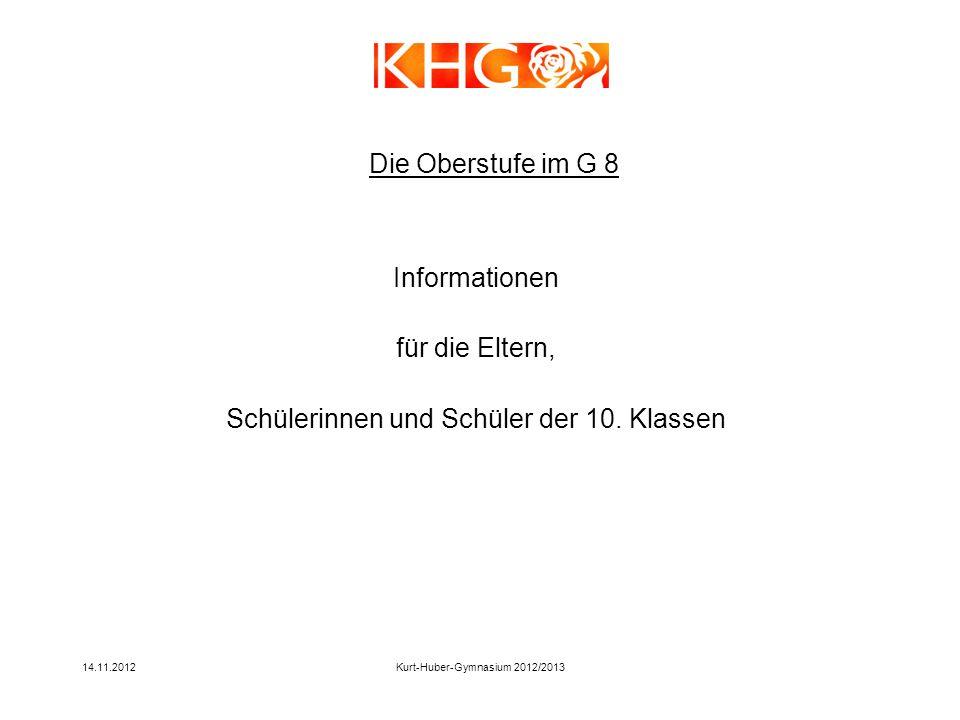 Informationen für die Eltern, Schülerinnen und Schüler der 10. Klassen