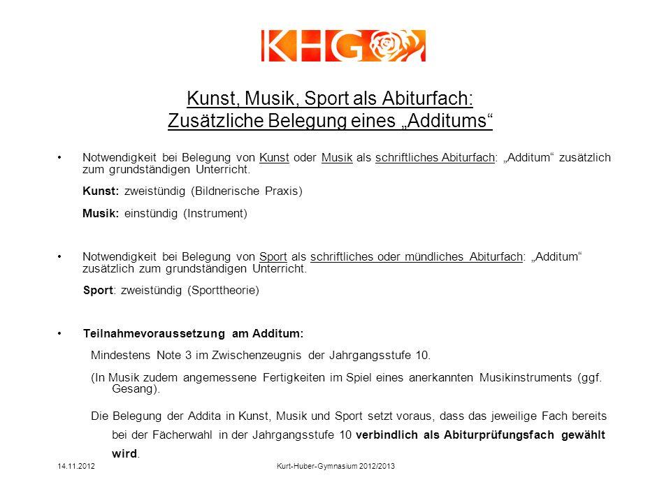 Kurt-Huber-Gymnasium 2012/2013