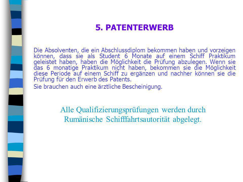5. PATENTERWERB