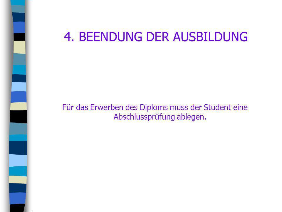 4. BEENDUNG DER AUSBILDUNG