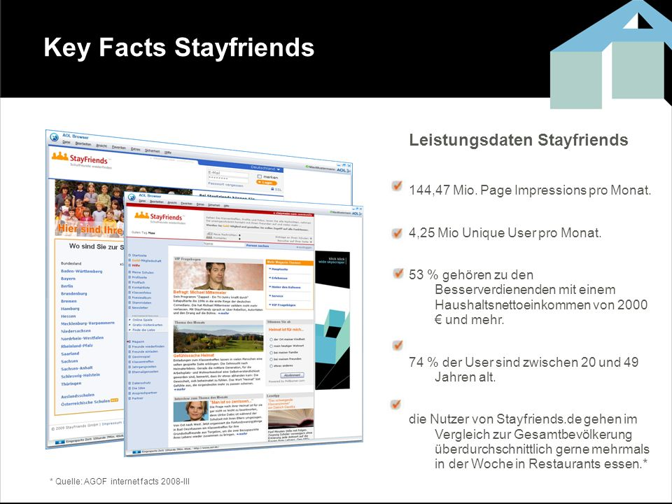 Key Facts Stayfriends Leistungsdaten Stayfriends