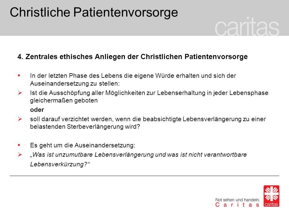 Christliche Patientenvorsorge