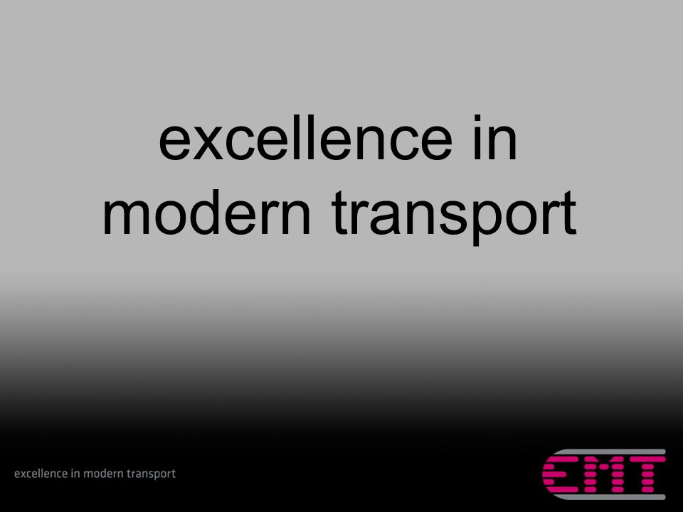 excellence in modern transport