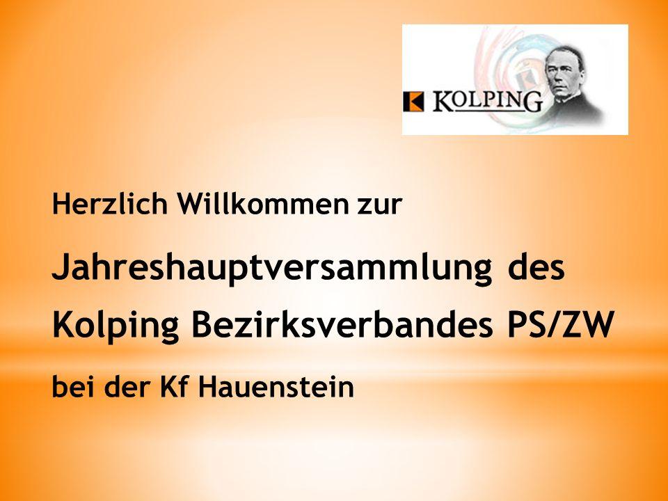 Jahreshauptversammlung des Kolping Bezirksverbandes PS/ZW