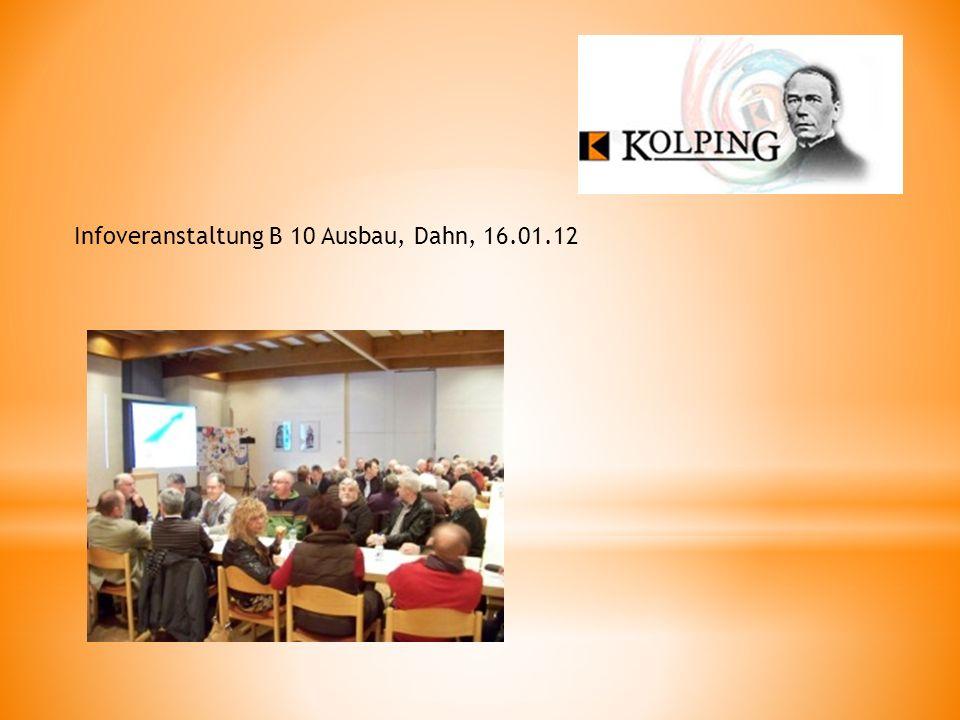 Infoveranstaltung B 10 Ausbau, Dahn, 16.01.12