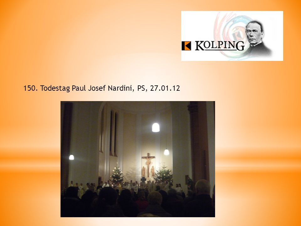 150. Todestag Paul Josef Nardini, PS, 27.01.12
