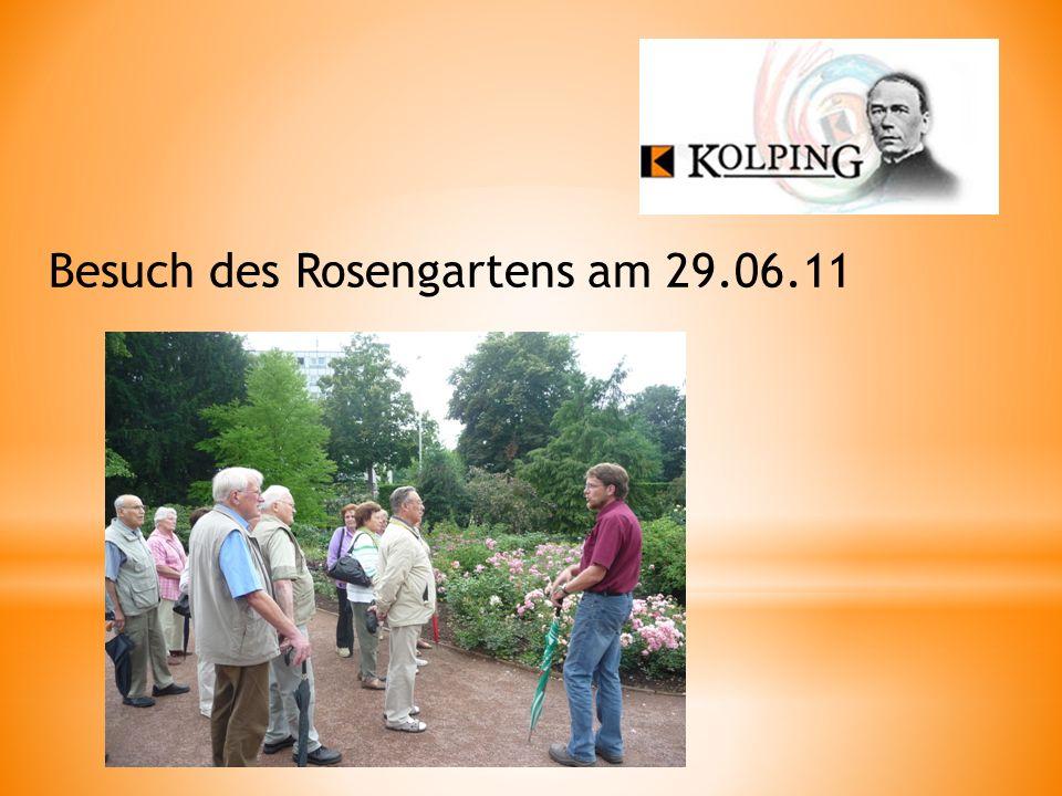 Besuch des Rosengartens am 29.06.11