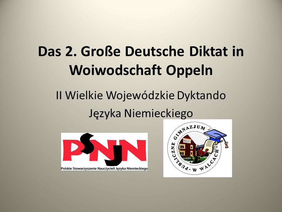 Das 2. Große Deutsche Diktat in Woiwodschaft Oppeln