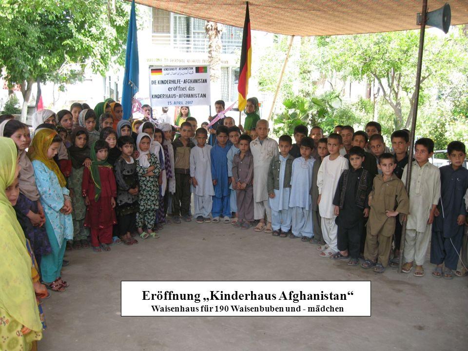 """Eröffnung """"Kinderhaus Afghanistan Waisenhaus für 190 Waisenbuben und - mädchen"""