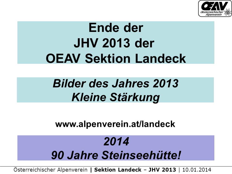 Ende der JHV 2013 der OEAV Sektion Landeck