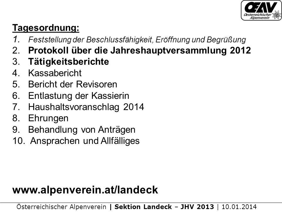 www.alpenverein.at/landeck Tagesordnung: