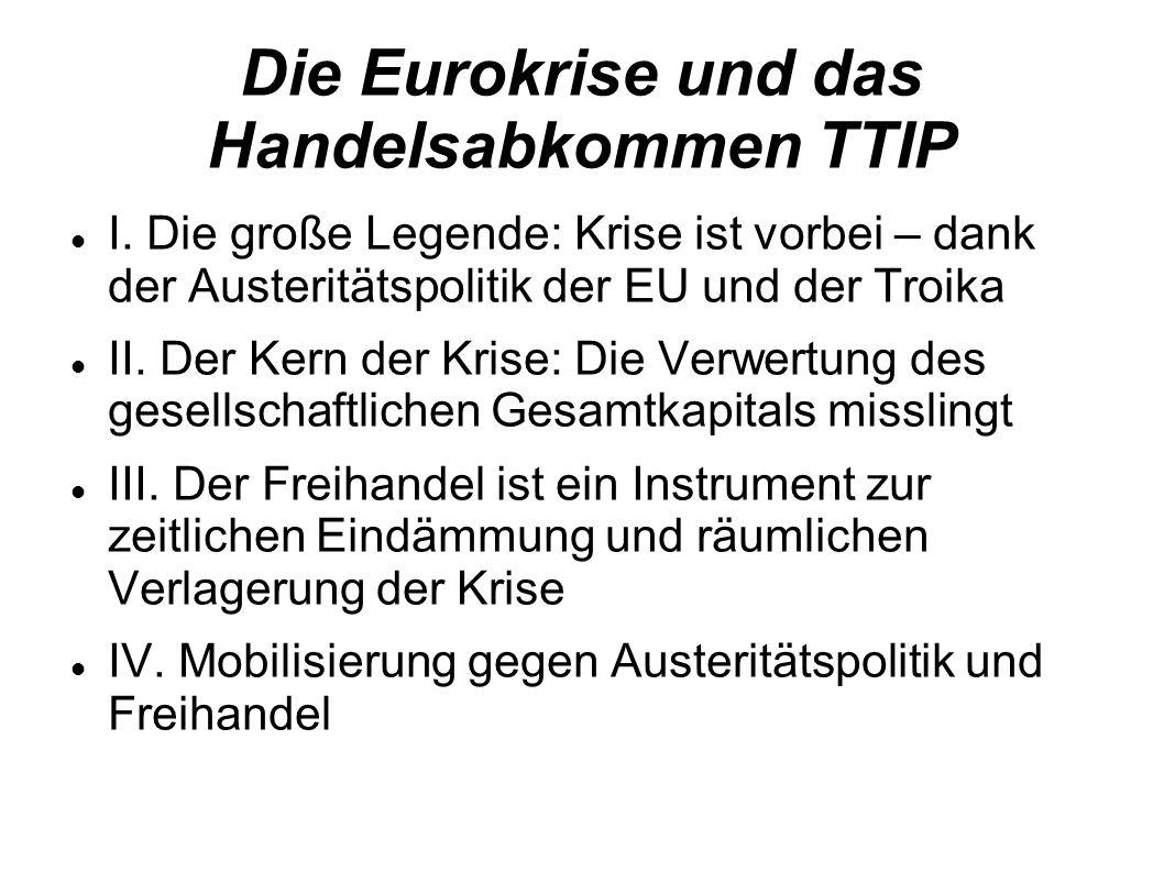 Die Eurokrise und das Handelsabkommen TTIP