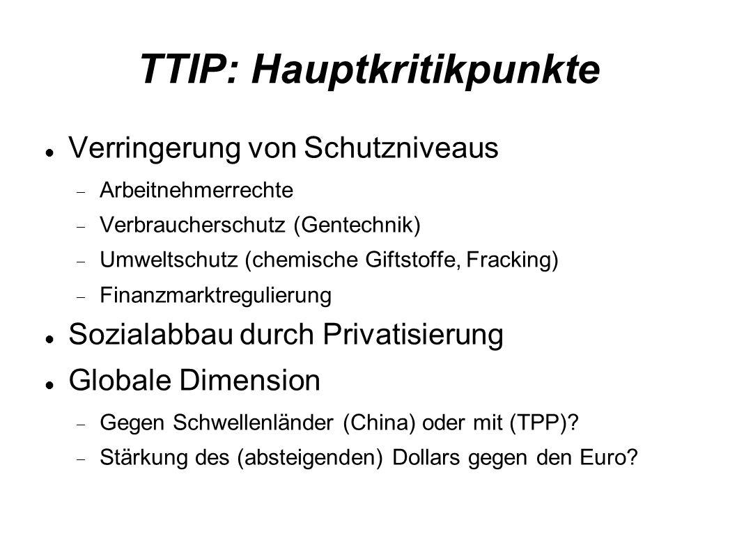 TTIP: Hauptkritikpunkte
