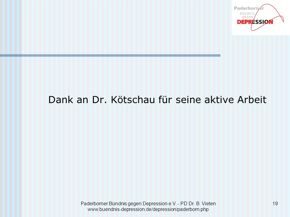 Dank an Dr. Kötschau für seine aktive Arbeit