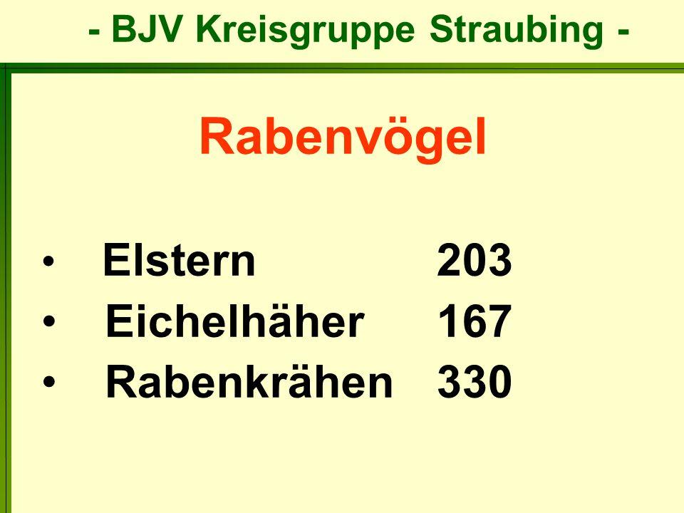 Rabenvögel Elstern 203 Eichelhäher 167 Rabenkrähen 330