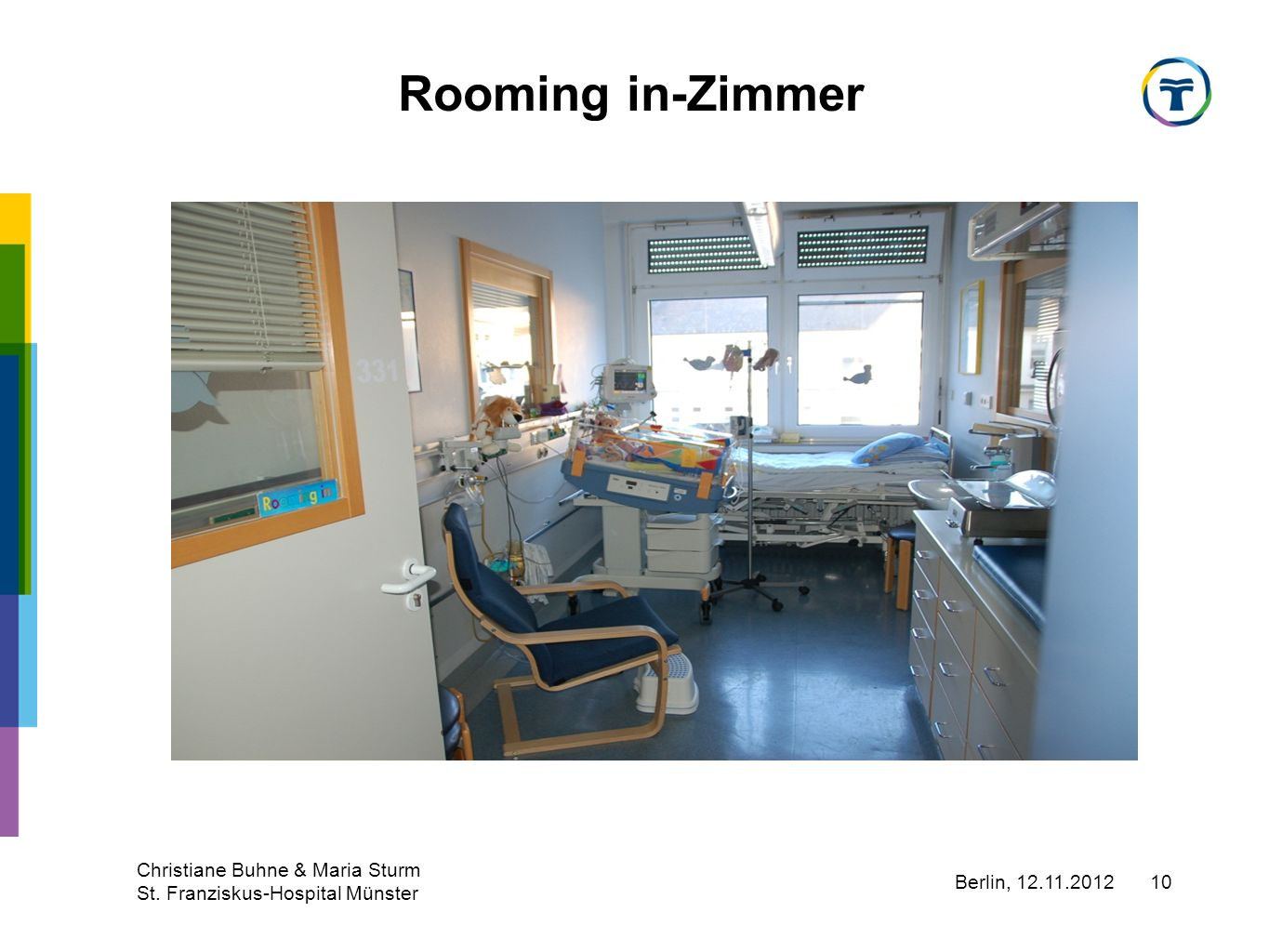 Rooming in-Zimmer Christiane Buhne & Maria Sturm
