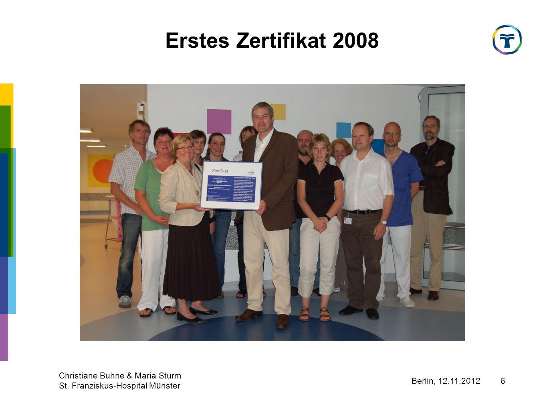Erstes Zertifikat 2008 Christiane Buhne & Maria Sturm