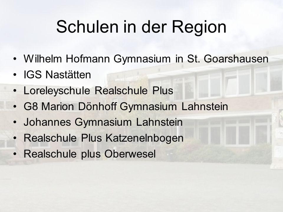 Schulen in der Region Wilhelm Hofmann Gymnasium in St. Goarshausen