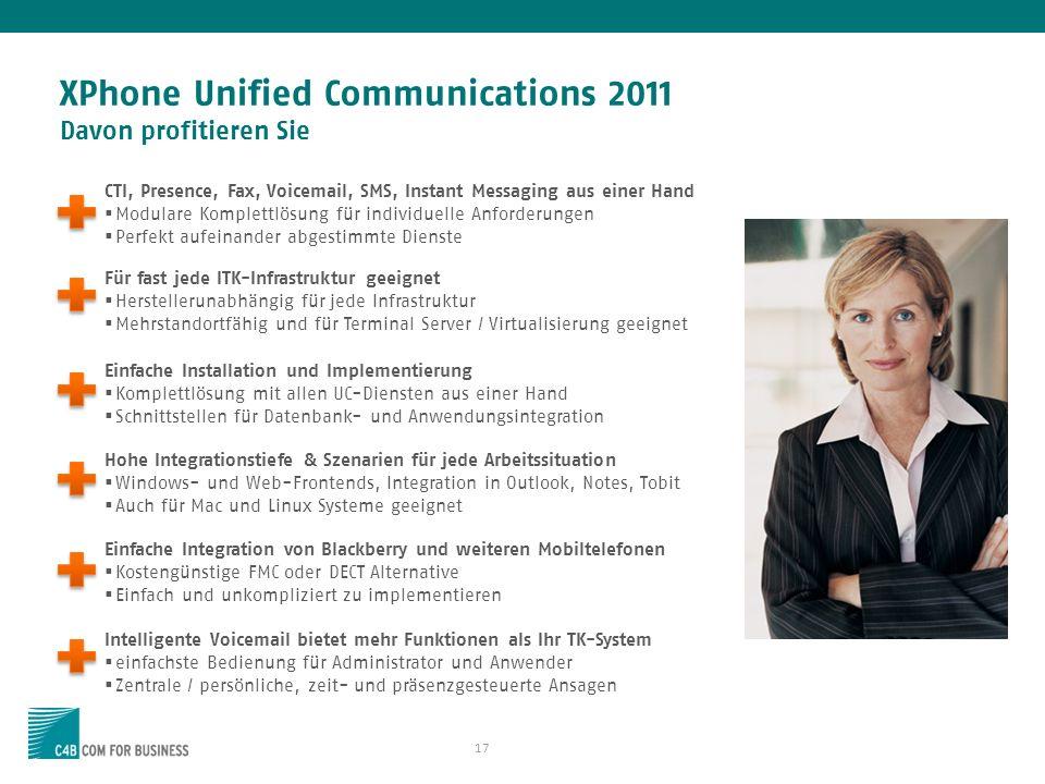 XPhone Unified Communications 2011 Davon profitieren Sie