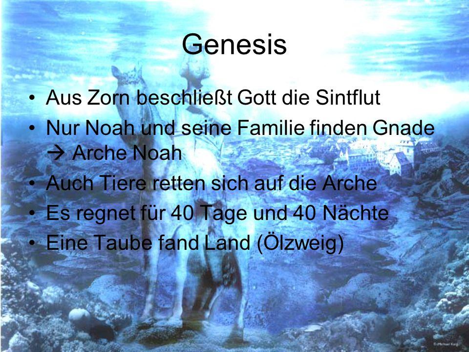 Genesis Aus Zorn beschließt Gott die Sintflut