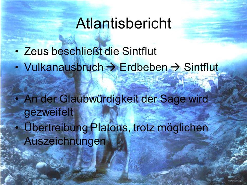 Atlantisbericht Zeus beschließt die Sintflut