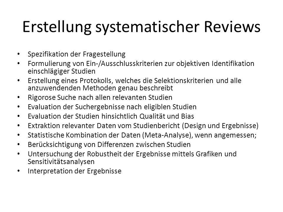Erstellung systematischer Reviews