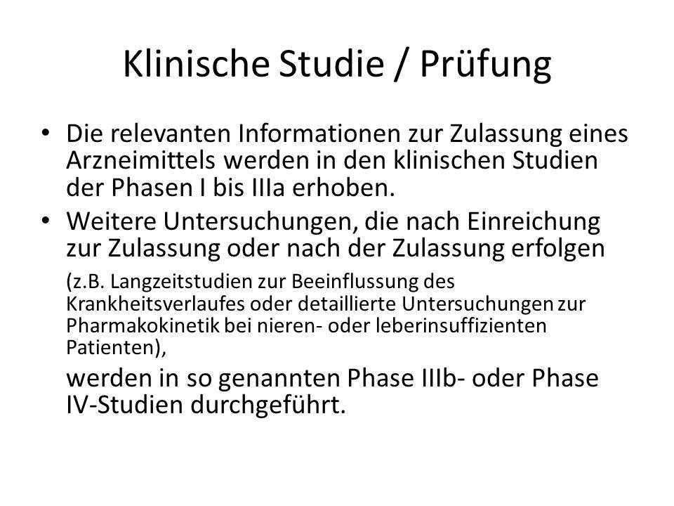 Klinische Studie / Prüfung