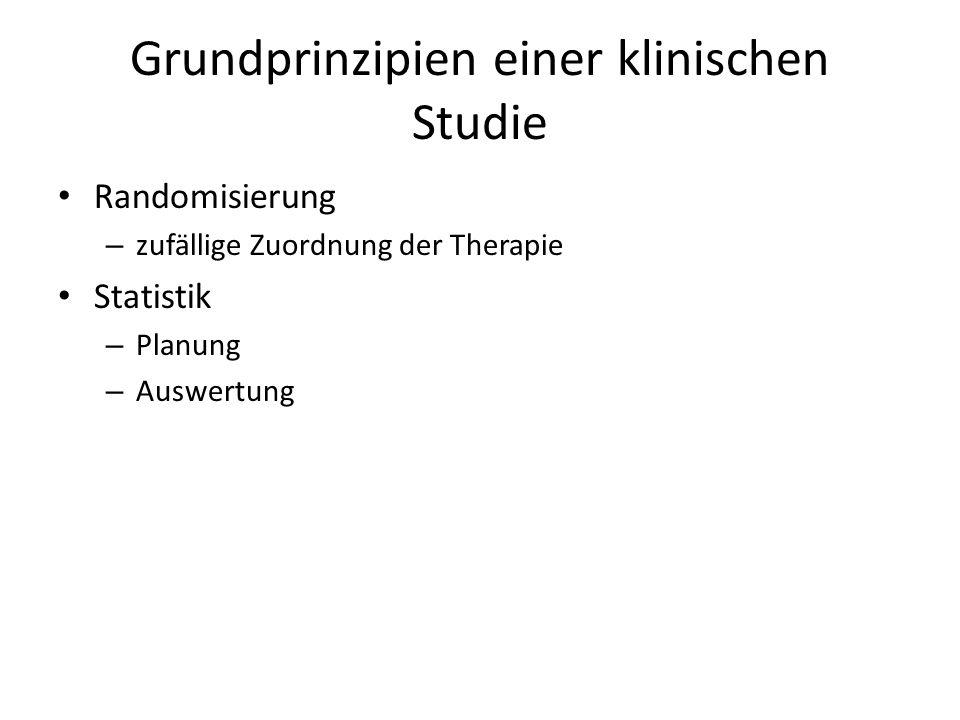 Grundprinzipien einer klinischen Studie