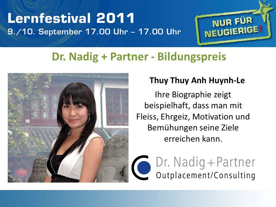 Dr. Nadig + Partner - Bildungspreis