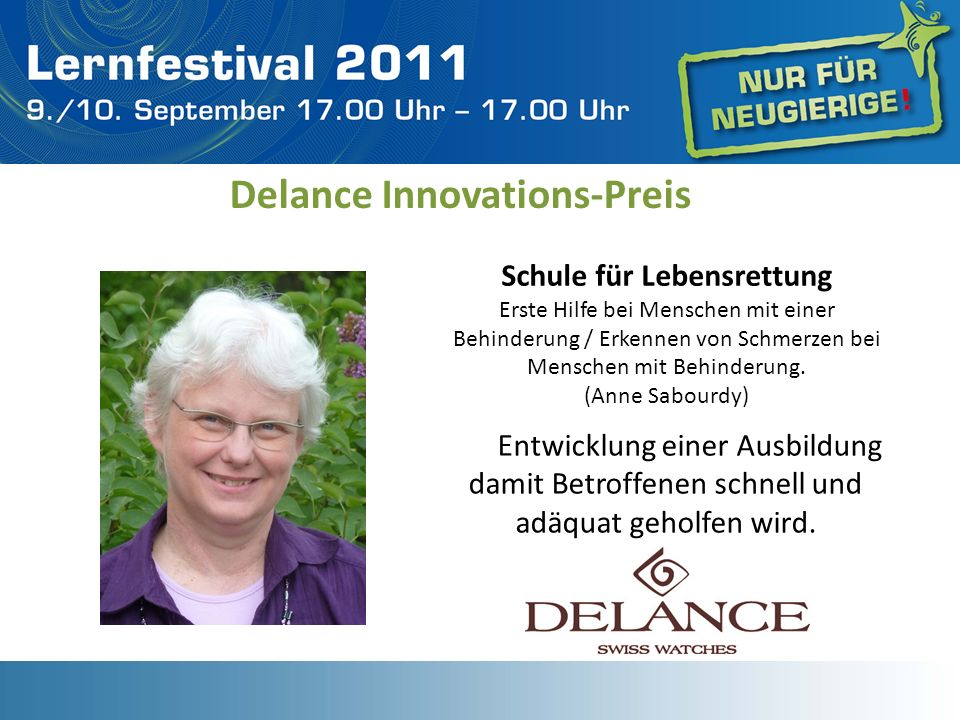Delance Innovations-Preis