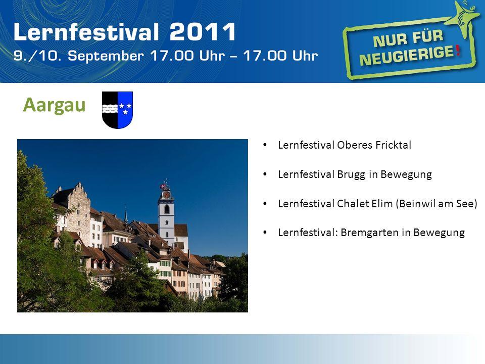 Aargau Lernfestival Oberes Fricktal Lernfestival Brugg in Bewegung