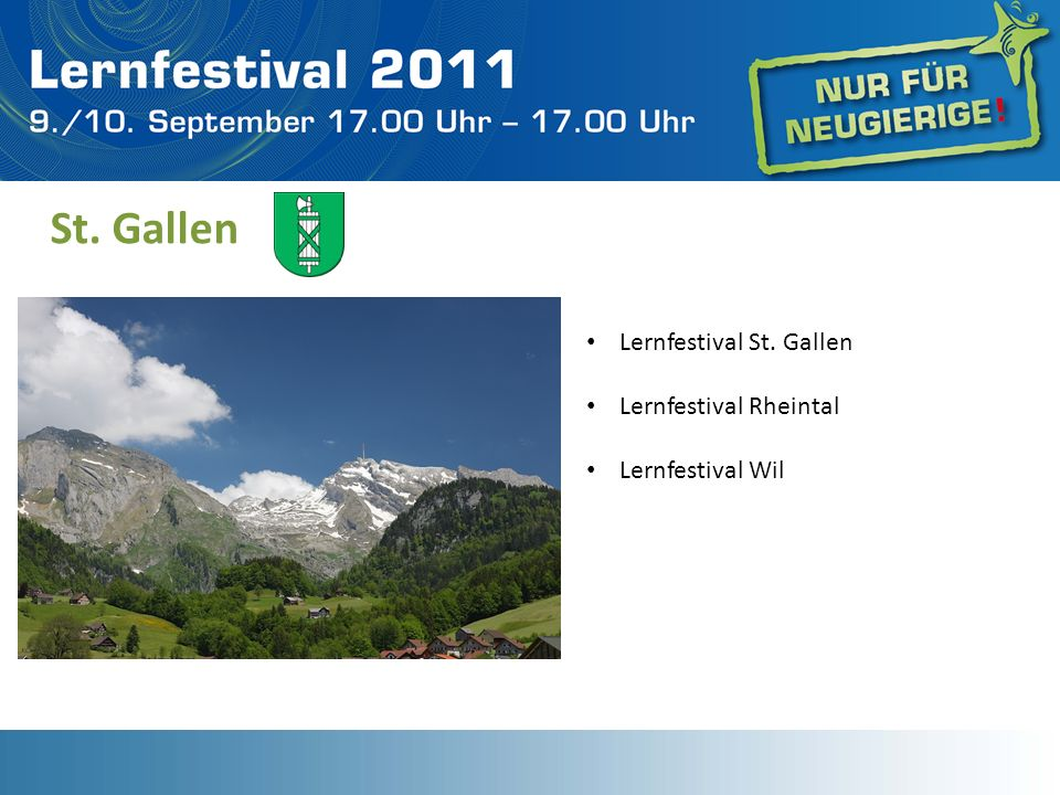 St. Gallen Lernfestival St. Gallen Lernfestival Rheintal