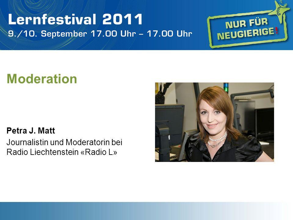 Moderation Petra J. Matt