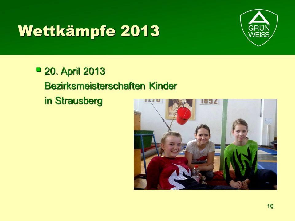 Wettkämpfe 2013 20. April 2013 Bezirksmeisterschaften Kinder in Strausberg