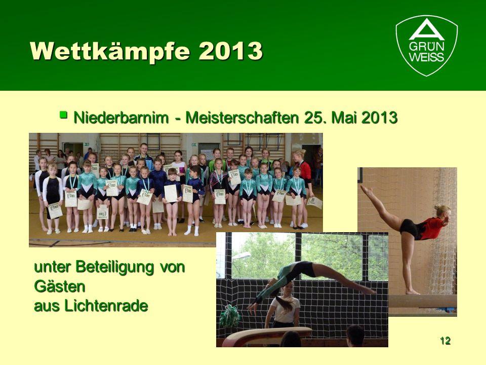 Wettkämpfe 2013 Niederbarnim - Meisterschaften 25. Mai 2013