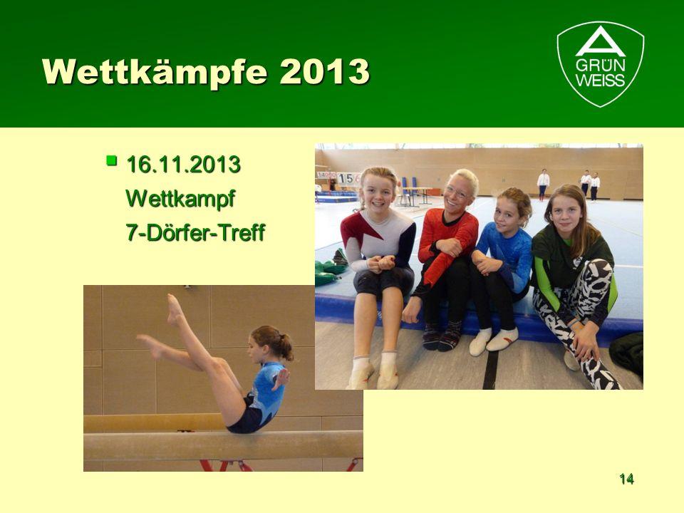 Wettkämpfe 2013 16.11.2013 Wettkampf 7-Dörfer-Treff
