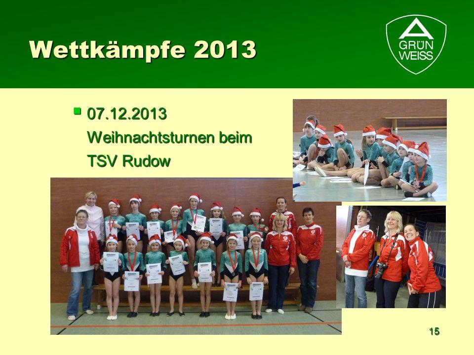 Wettkämpfe 2013 07.12.2013 Weihnachtsturnen beim TSV Rudow