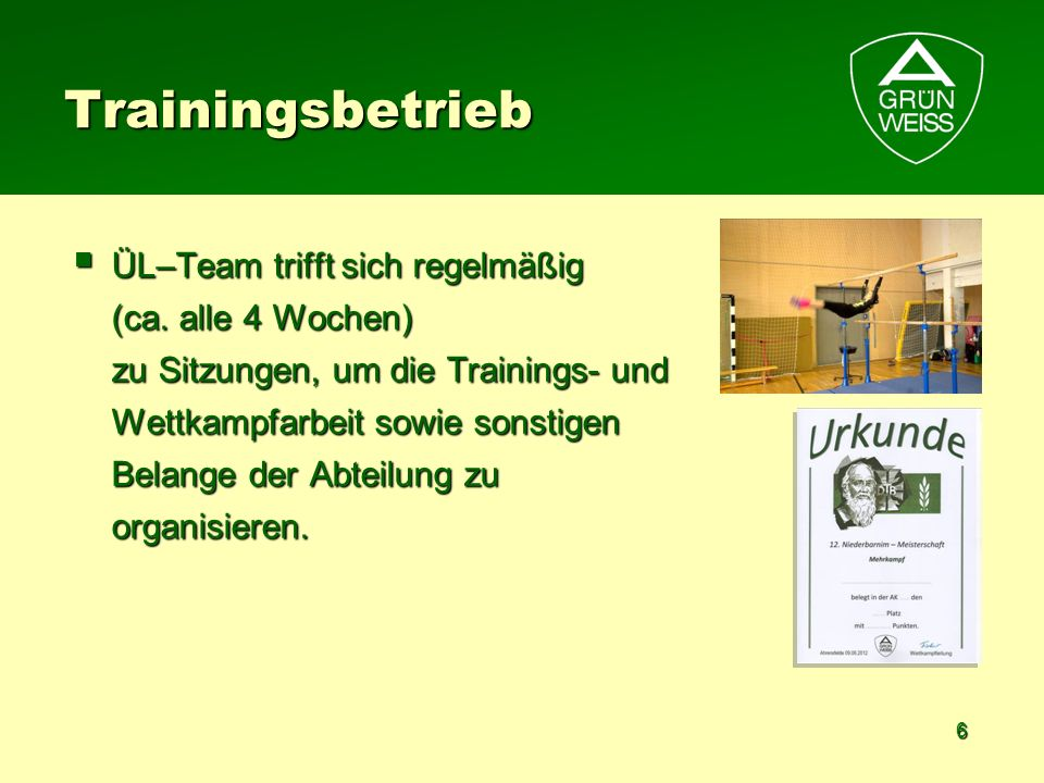 Trainingsbetrieb