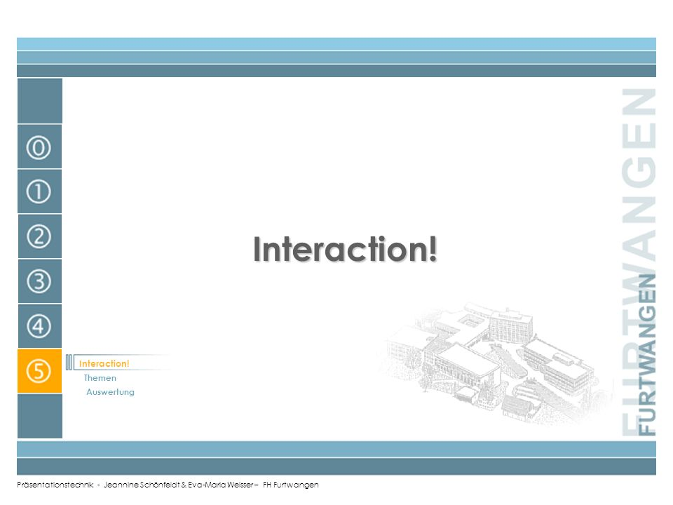 Interaction! Interaction! Themen Auswertung