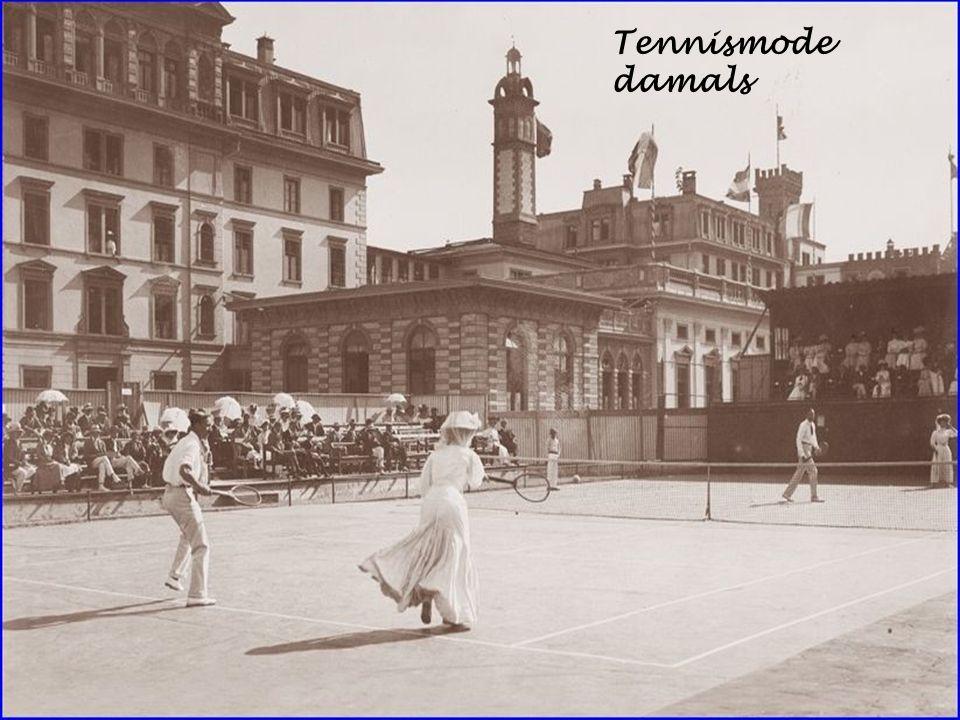 Tennismode damals