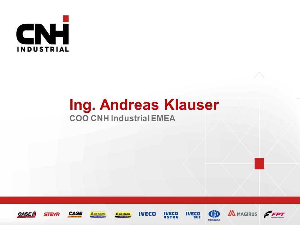 Ing. Andreas Klauser COO CNH Industrial EMEA