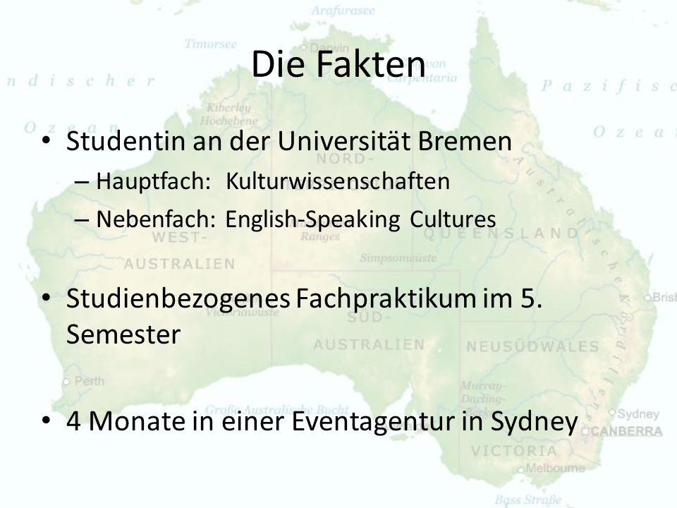 Die Fakten Studentin an der Universität Bremen