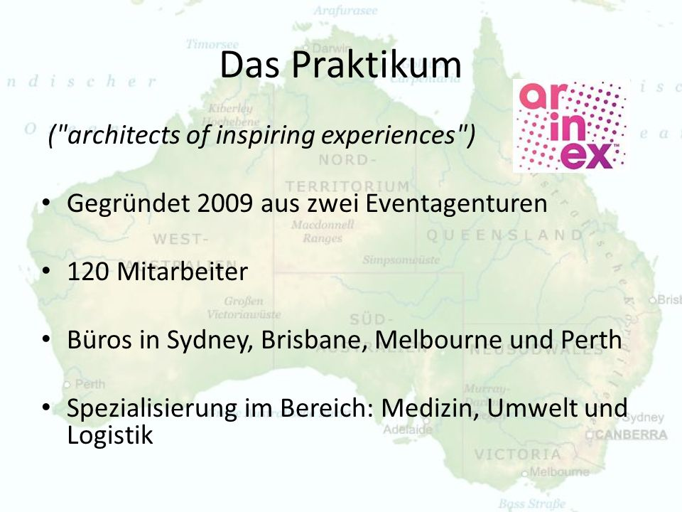 Das Praktikum ( architects of inspiring experiences )