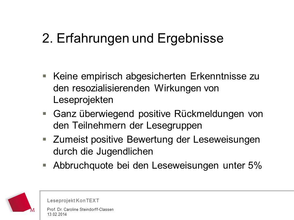 2. Erfahrungen und Ergebnisse