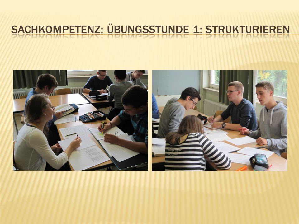 Sachkompetenz: Übungsstunde 1: Strukturieren