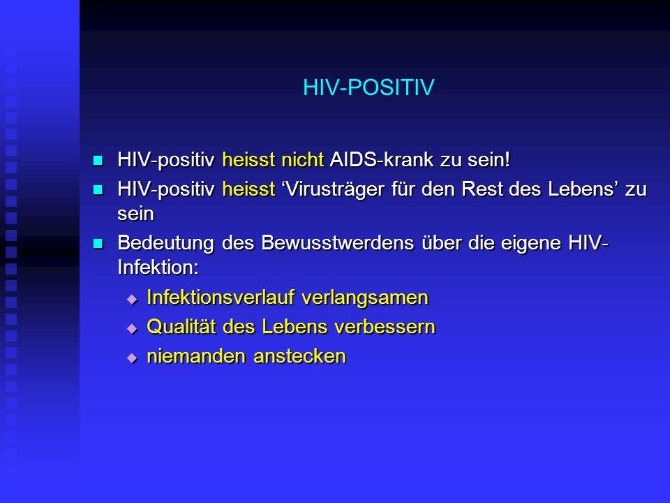 HIV-POSITIV HIV-positiv heisst nicht AIDS-krank zu sein!