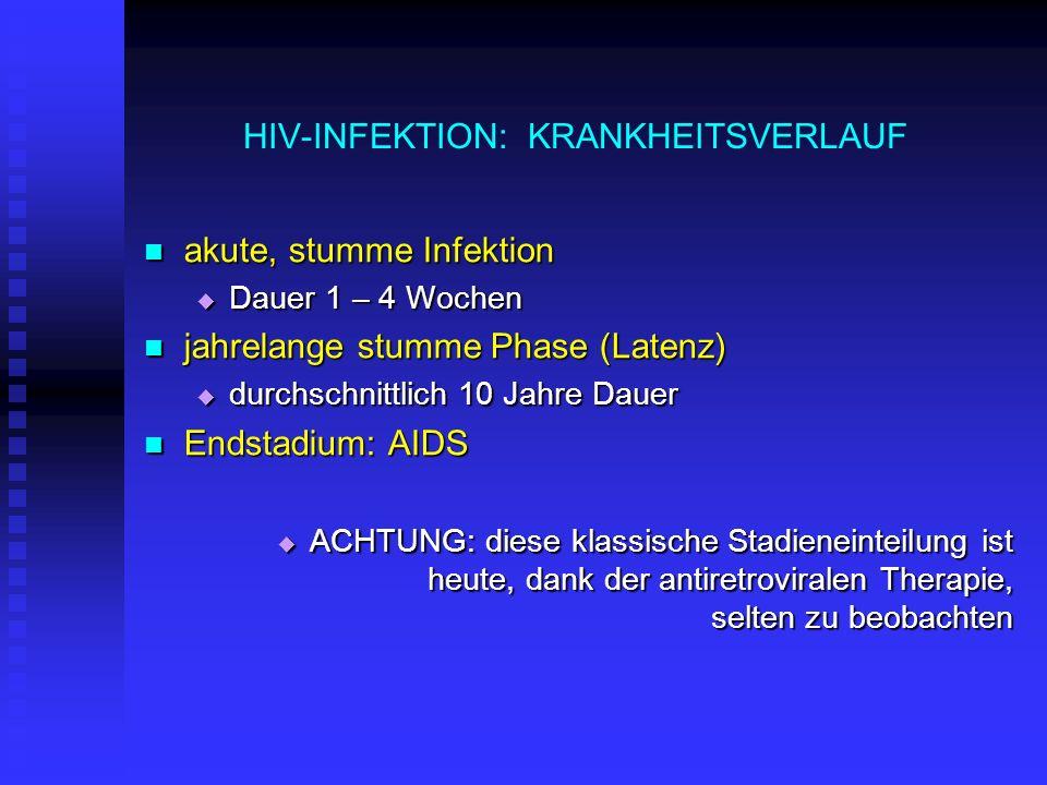 HIV-INFEKTION: KRANKHEITSVERLAUF