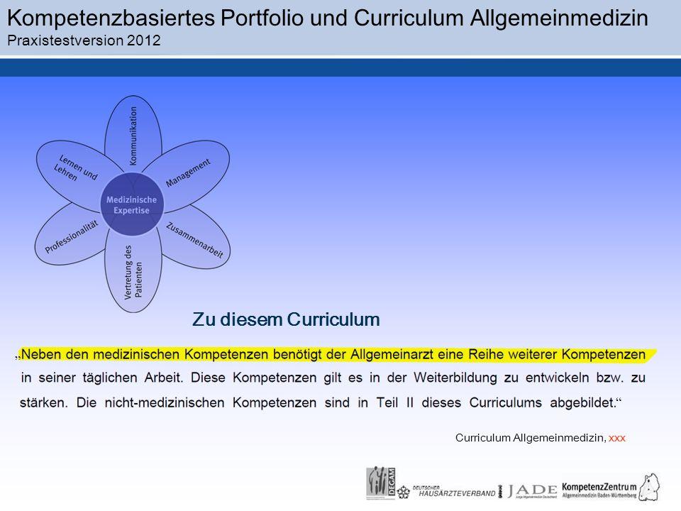 Curriculum Allgemeinmedizin, xxx
