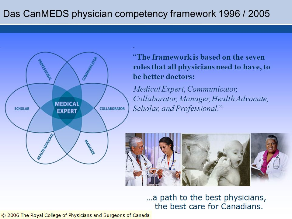 Das CanMEDS physician competency framework 1996 / 2005