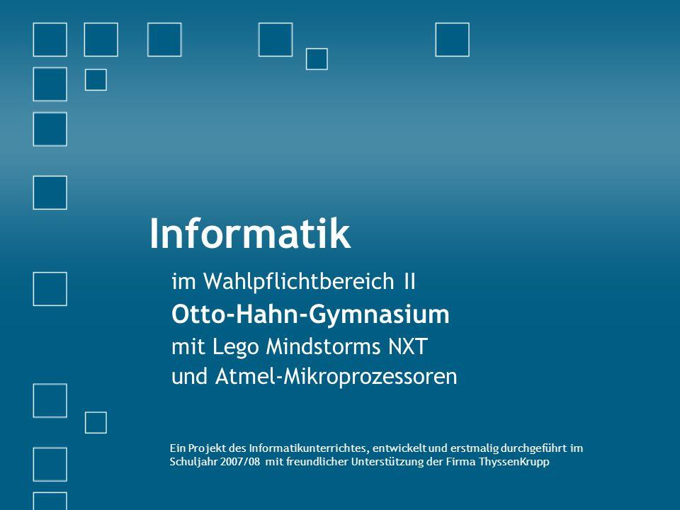 Informatik Otto-Hahn-Gymnasium im Wahlpflichtbereich II